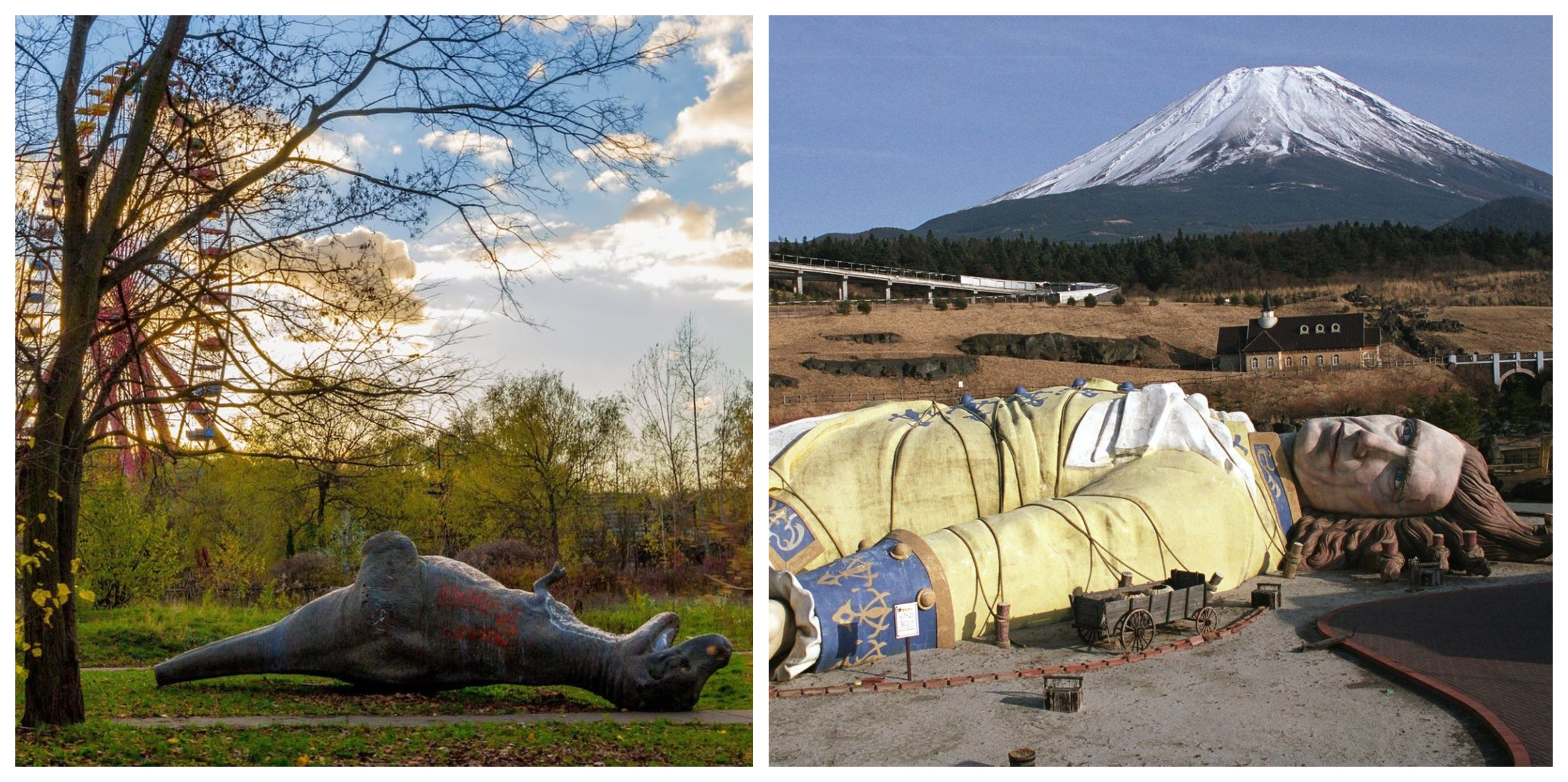 12 Strange Pictures Of Deserted Theme Parks In The U.S. (13 Around The World)