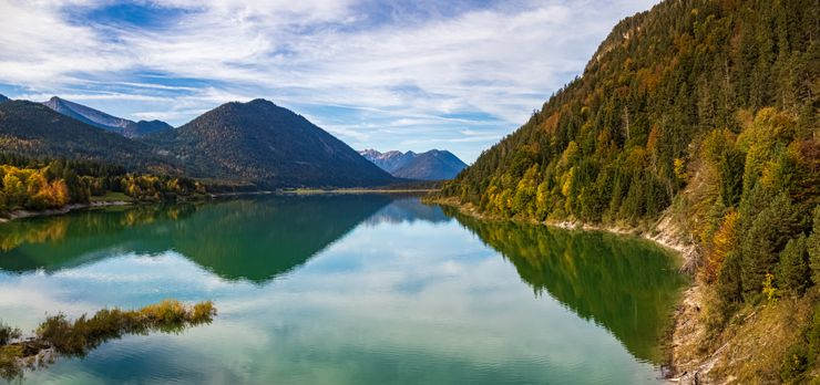 Sylvenstein Dam Is Not Far From Munich, And It's The Most Beautiful Lake In  Germany